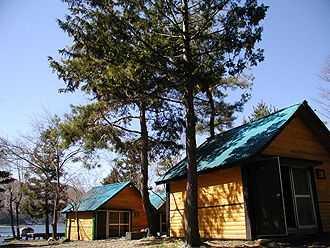 西湖湖畔キャンプ場