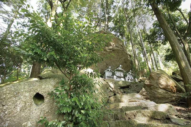 不動山の巨石で聞こえる紀ノ川