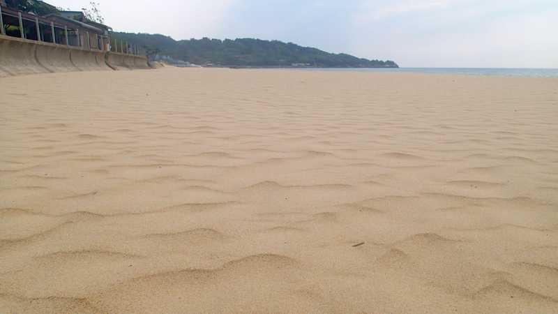 琴ヶ浜海岸の鳴き砂