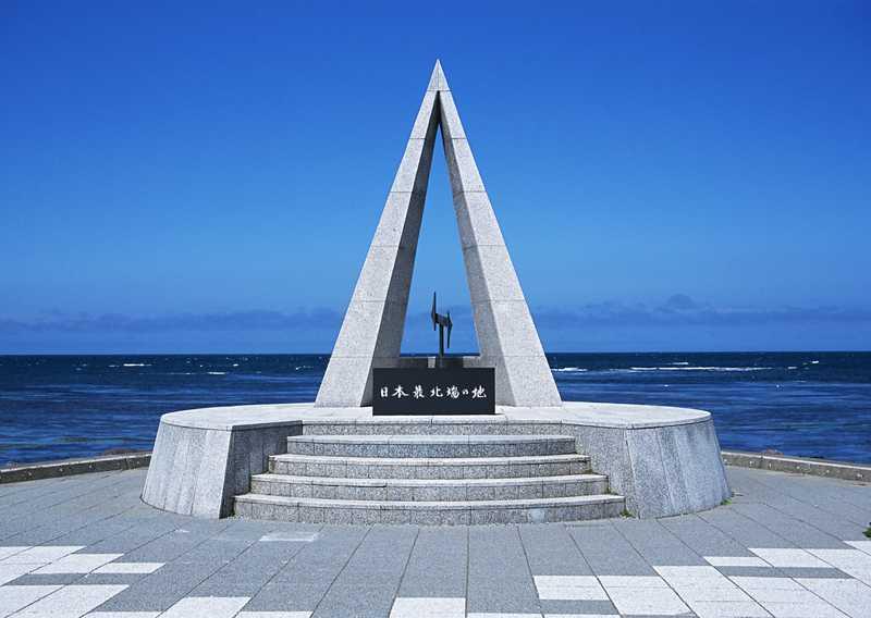 宗谷岬日本最北端の地の碑前