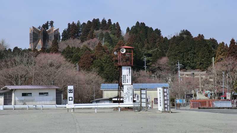 妙見山上駐車場付近