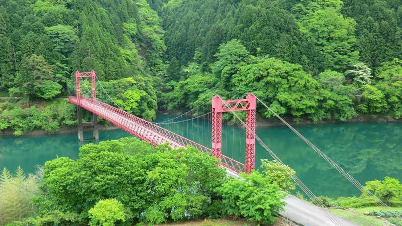 物部川山崎橋付近