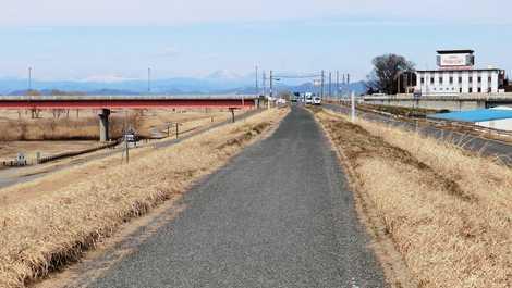 ... 県道古河岩井自転車道線の画像