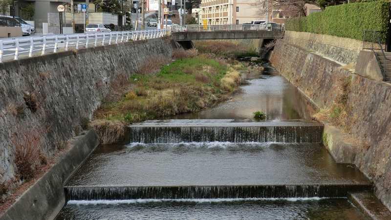 箕面川徳尾橋付近