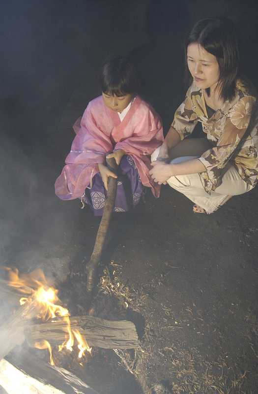 霜宮の火焚き神事