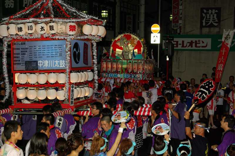 中山道・中津川「おいでん祭」納涼大花火大会