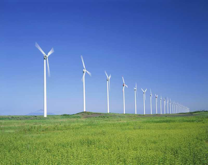 幌延町風力発電風車