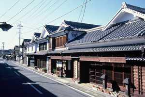 八女福島の町並み