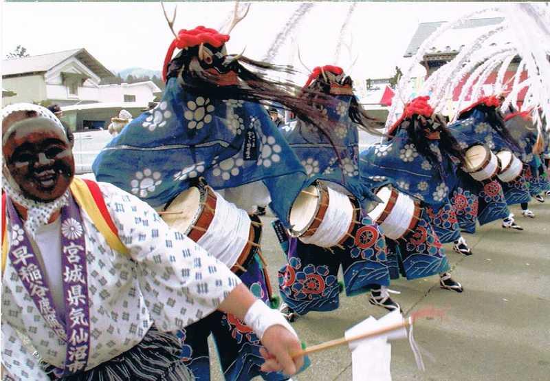 一関市・大東大原水かけ祭り
