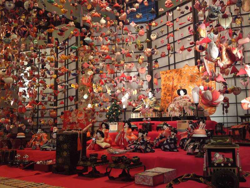 雛のつるし飾りまつり 文化公園雛の館