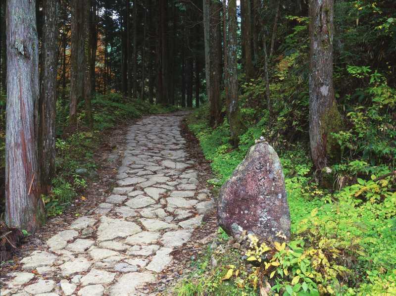 中山道・落合の石畳