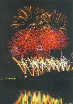 西条市おかげん祭市民花火大会の画像