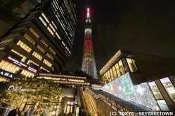 東京スカイツリータウンのイルミネーション