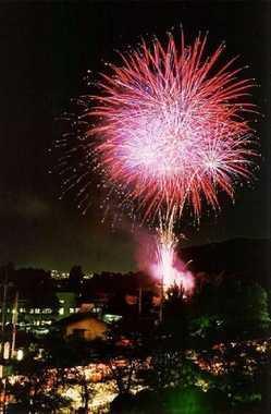 笛吹川県下納涼花火大会の画像