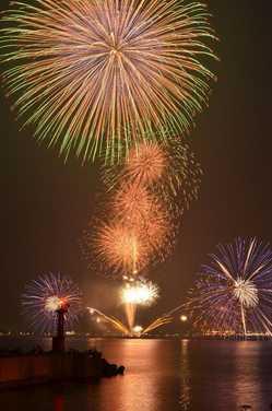 香住ふるさとまつり海上花火大会の画像