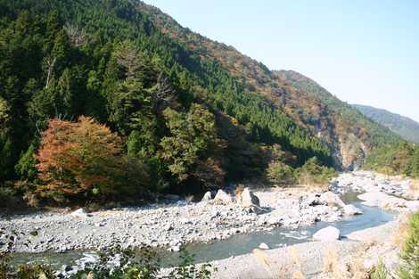 葛川渓谷の画像