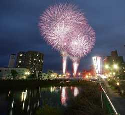湯の川温泉花火大会の画像