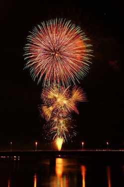 秋田市夏まつり雄物川花火大会の画像