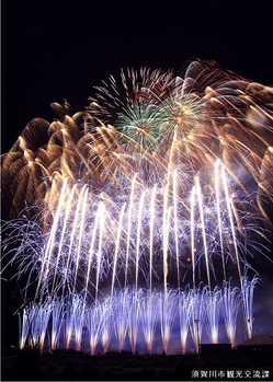 須賀川市釈迦堂川花火大会の画像