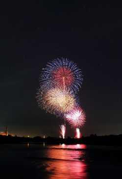 川島地区花火大会の画像