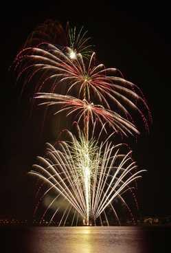 しもつま砂沼の花火大会の画像