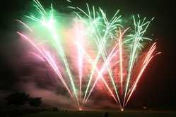 新町ふるさと祭り 花火大会灯籠流しの画像