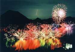 榛名の祭り花火大会の画像