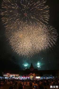 秩父川瀬祭花火大会の画像