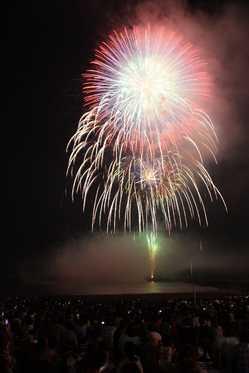 サザンビーチちがさき花火大会の画像