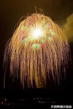片貝まつり浅原神社秋季例大祭奉納大煙火の画像