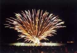 ゑびす祭り・くろべ生地浜海上花火大会の画像