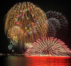 和倉温泉夏花火の画像