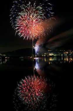 白樺湖夏祭り花火大会の画像