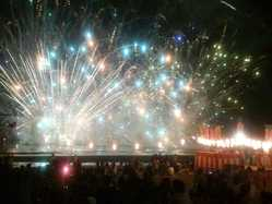 静波海水まつり花火大会の画像