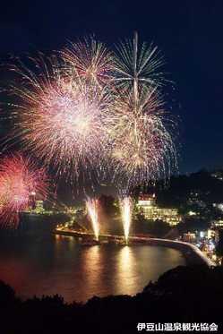 伊豆山温泉納涼海上花火大会の画像