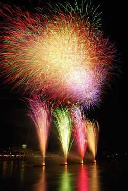 日本ライン夏まつり 納涼花火大会の画像