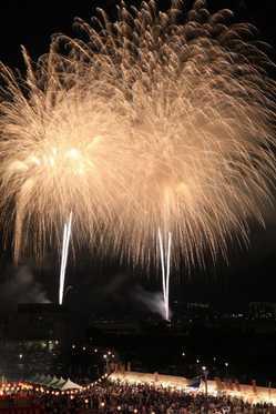 三田まつり花火大会の画像