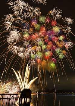 水郷祭 湖上大花火の画像