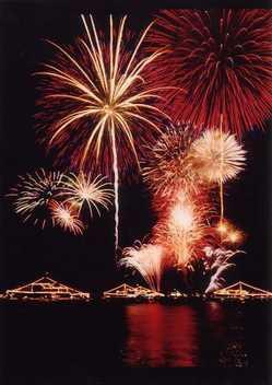 呉の夏まつり「海上花火大会」の画像