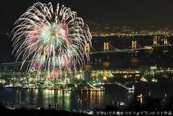 さかいで大橋まつり海上花火大会の画像