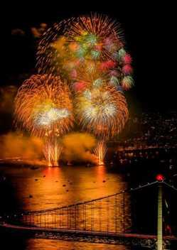 関門海峡花火大会の画像